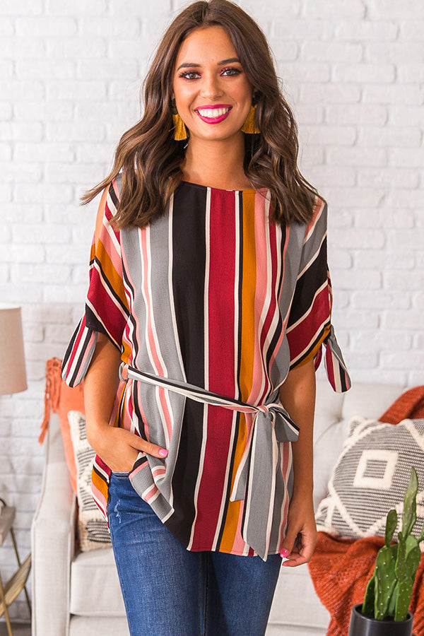 Sweet Serendipity Striped Top