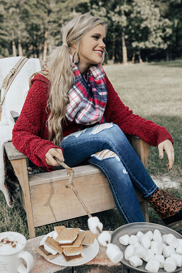 Cozy Calling Plaid Scarf