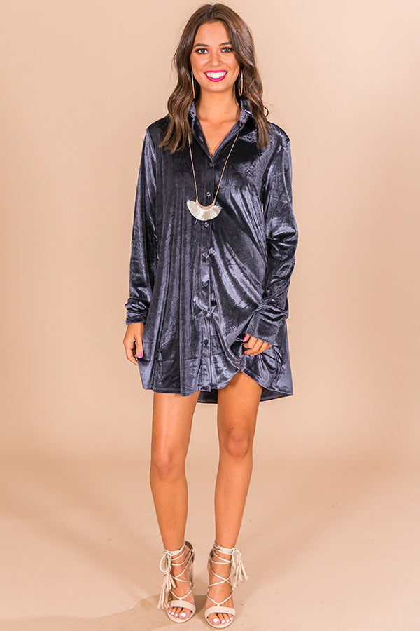 Happy Hour Honey Velvet Tunic In Riverside