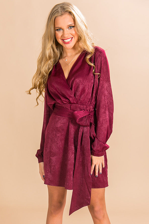 Love At First Sight Dress In Wine