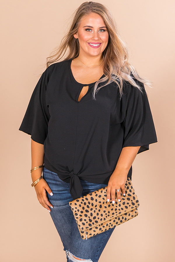 First Class Sass Shift Top In Black