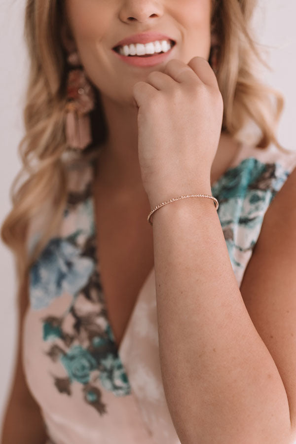 Just Add Champagne Bracelet in Rose Gold