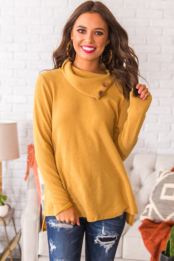 Cozy In Connecticut Shift Sweater In Primrose Yellow