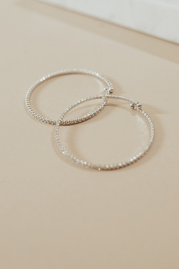 Just Add Champagne Bracelet in Silver