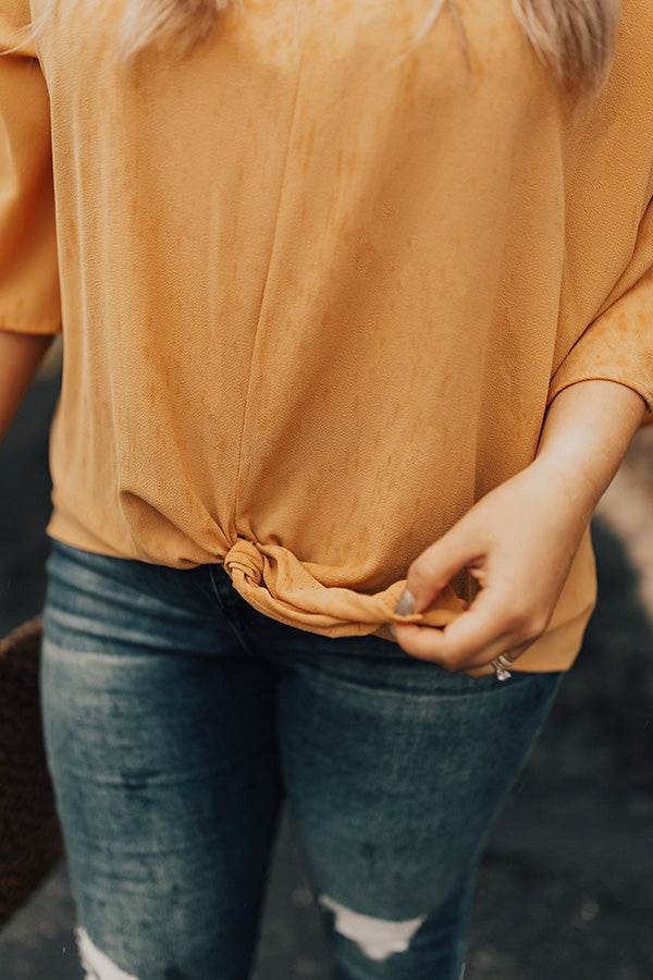 First Class Sass Shift Top In Marigold