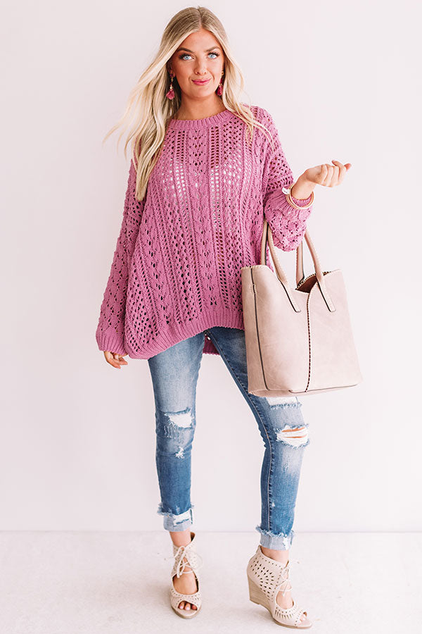 Season Of Snuggles Tunic Sweater in Pink