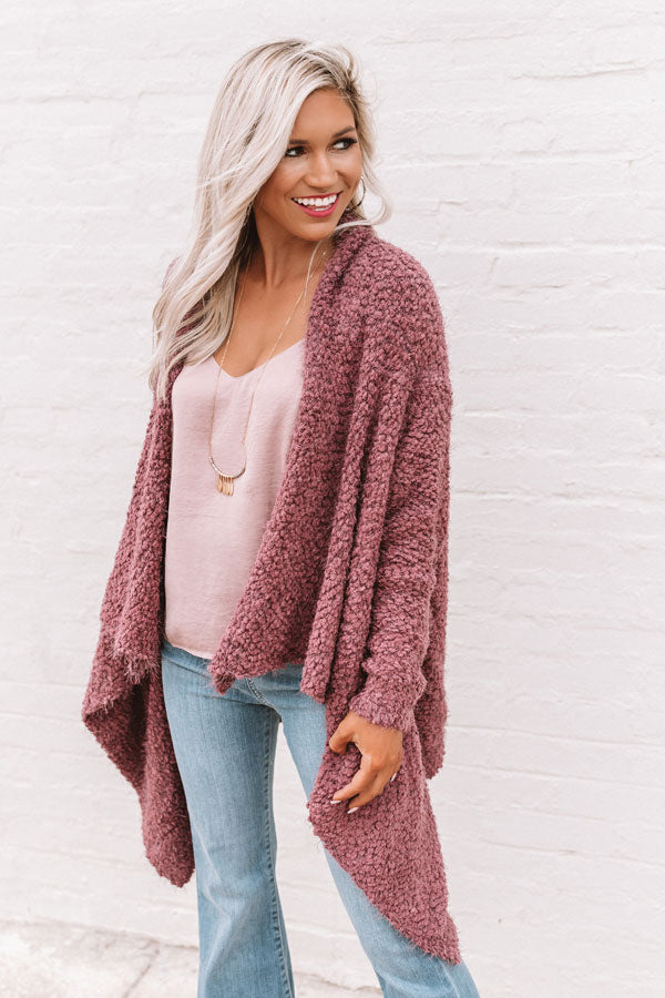 Carolina Cuddles Cardigan in Windsor Wine