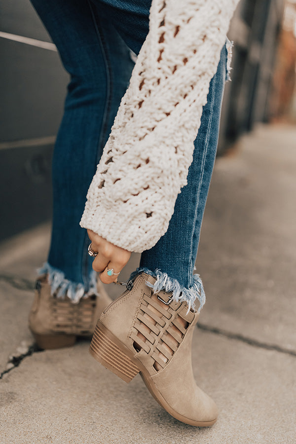 The Maren Bootie in Taupe