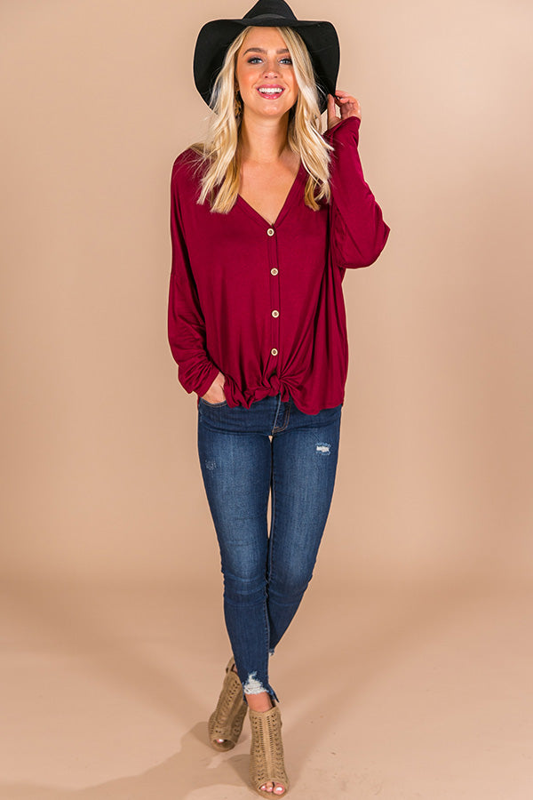 Positively Pretty Shift Top In Wine