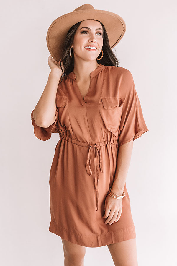 Harvest Honey Dress in Cinnamon