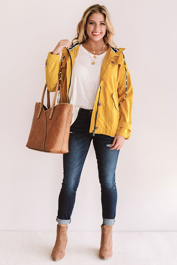 Meet Me By The Bay Lightweight Jacket in Marigold