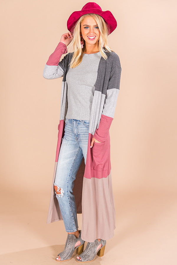 Graceful And Gorgeous Color Block Cardigan