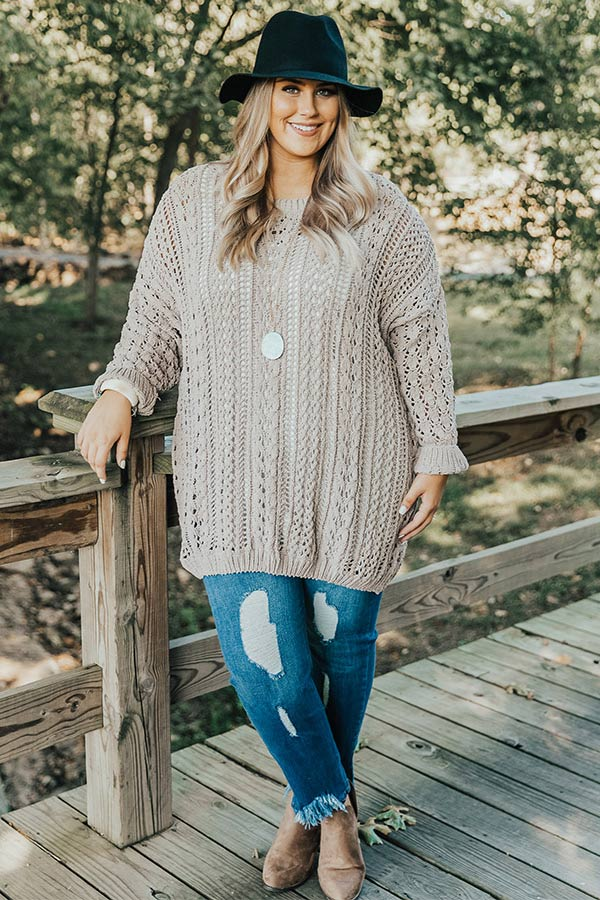 Season Of Snuggles Tunic Sweater in Warm Taupe