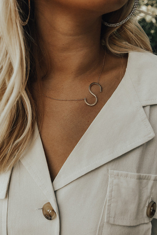 Lucky Charm Initial Necklace