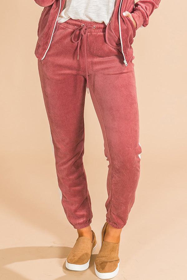 The Liv Velour Joggers