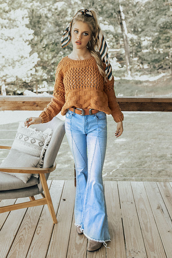 Pumpkin Spice and Everything Nice Cropped Sweater in Camel