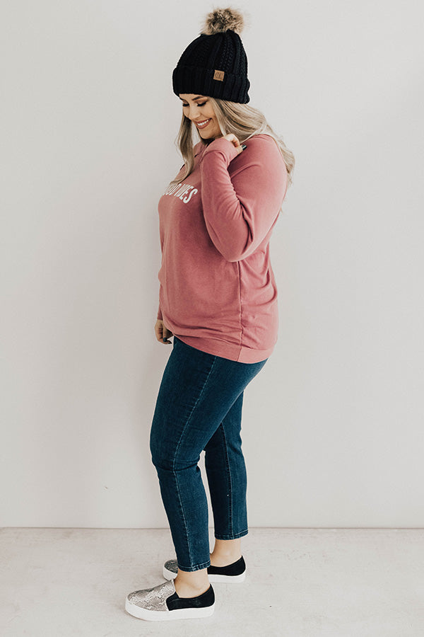 Good Vibes Only Sweatshirt In Blush