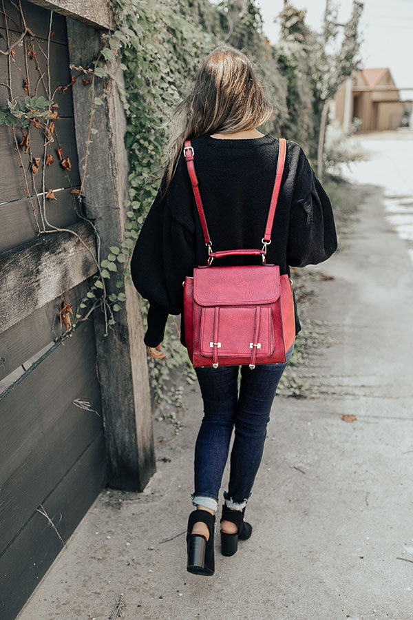 Touring Rome Backpack in Red