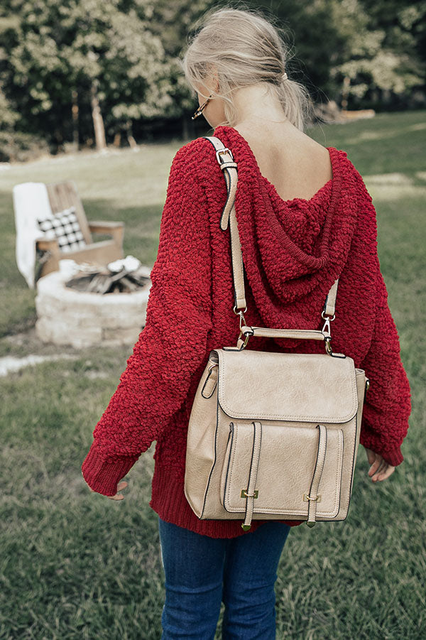 Touring Rome Backpack in Beige