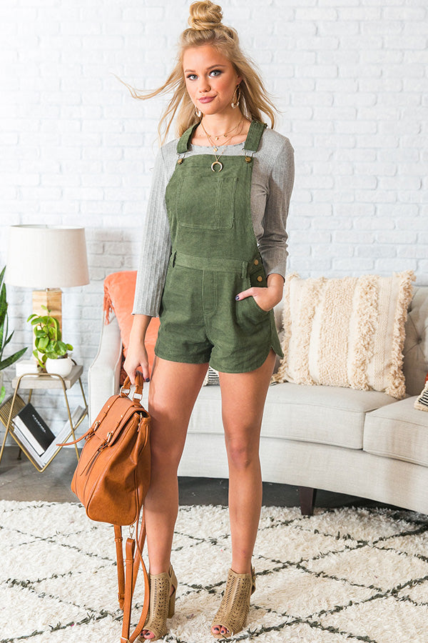 Simply Irresistible Corduroy Short Overall