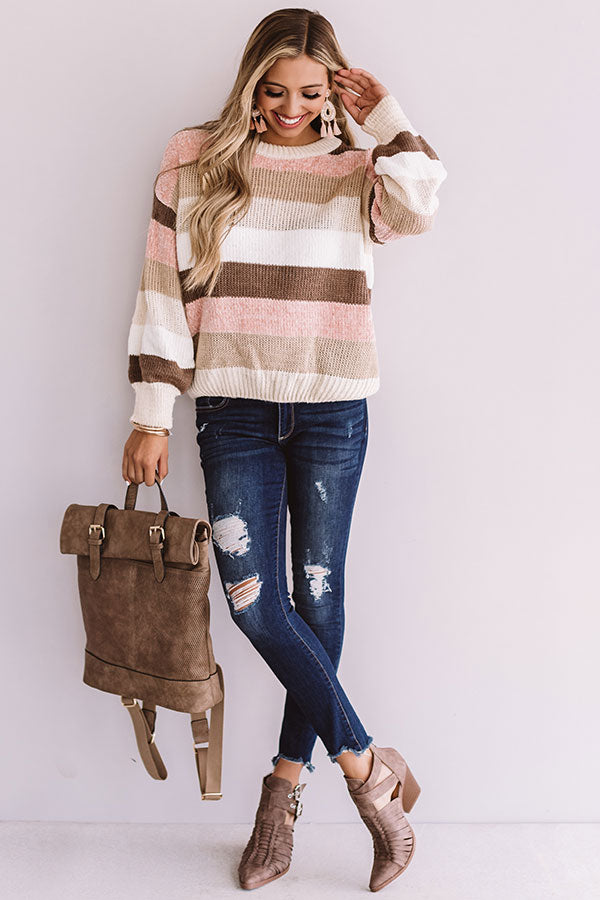 What's The Scoop Knit Sweater In Cream