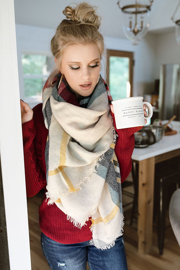 Cold Night Kisses Blanket Scarf