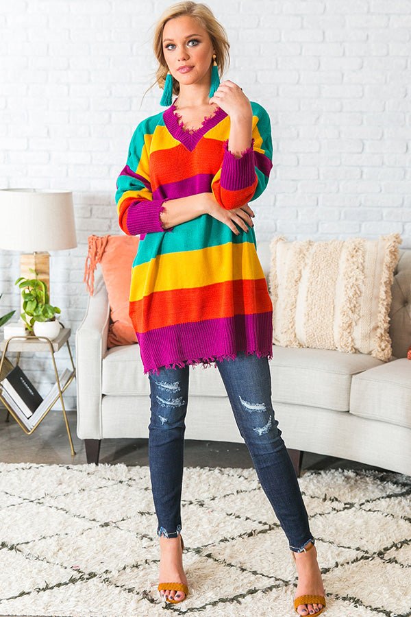 Outside The Lines Tunic Sweater