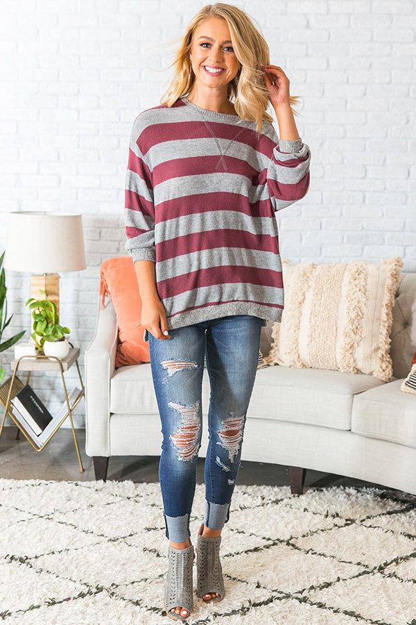 Cozy Moment Striped Sweater