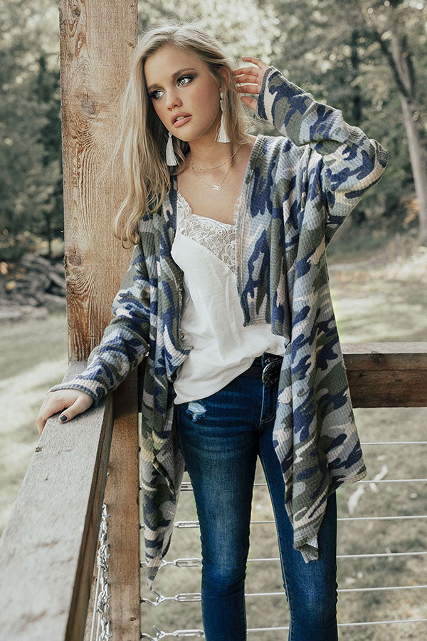 Camo Retreat Cardigan