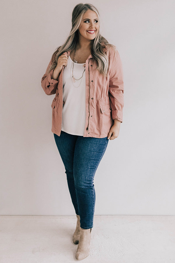 Chilled Wine Divine Lightweight Jacket In Blush