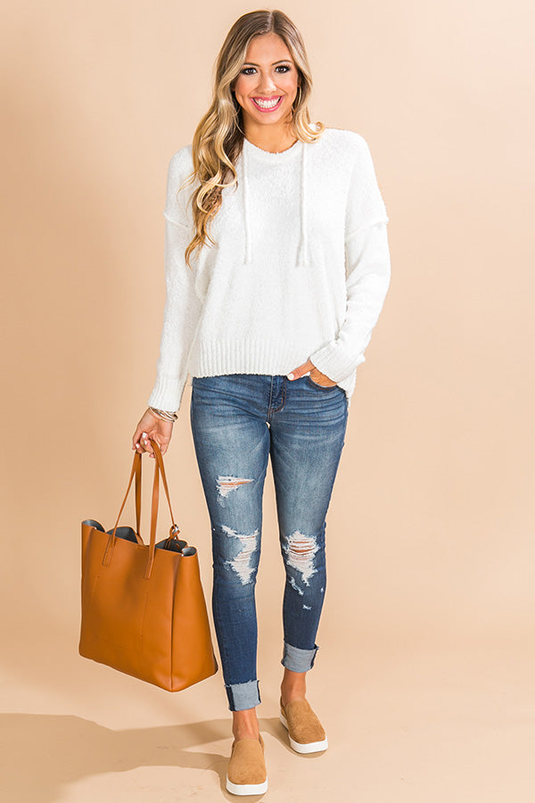 That Cozy Feeling Shift Sweater in White