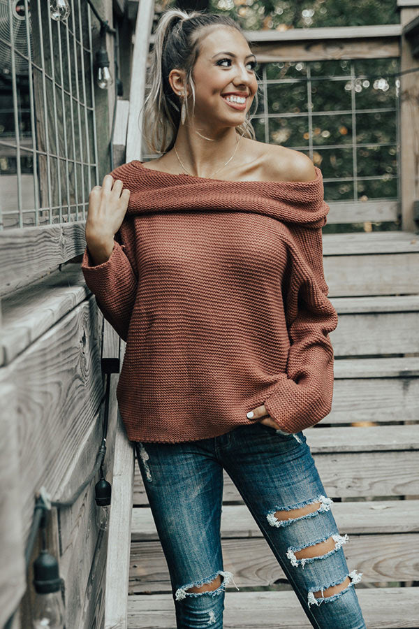 Oh So Cozy Tunic Sweater in Rustic Rose