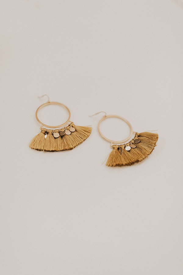 VIP Room Earrings In Mustard