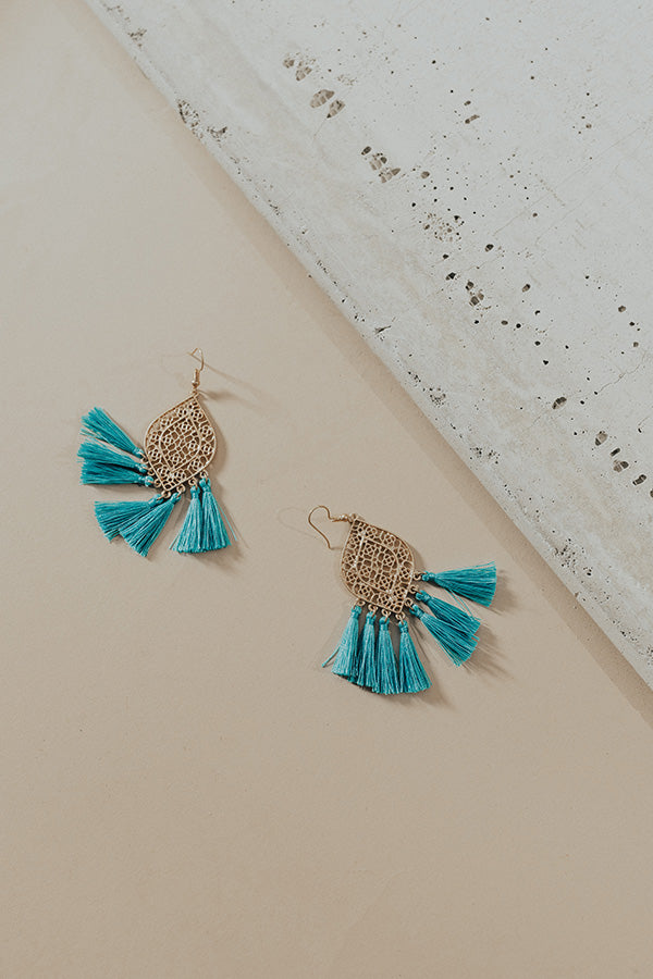 Glam Squad Earrings In Turquoise
