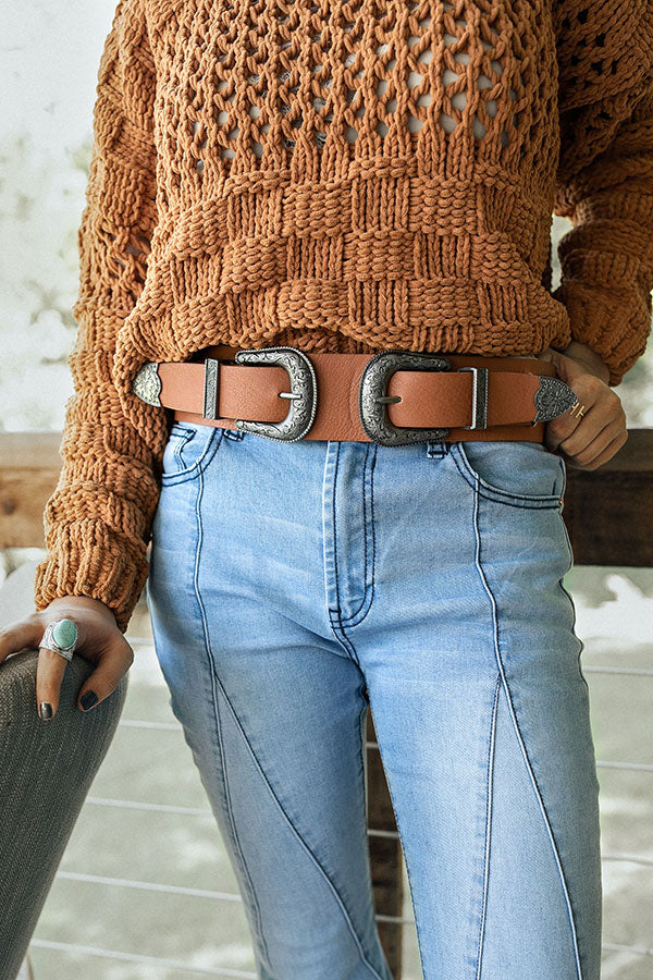 Buckle Up Belt In Brown