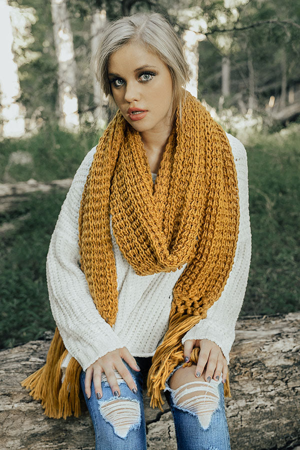 Let's Get Toasty Knit Scarf