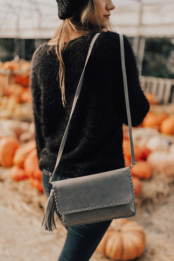 Just Add Cocktails Clutch In Grey