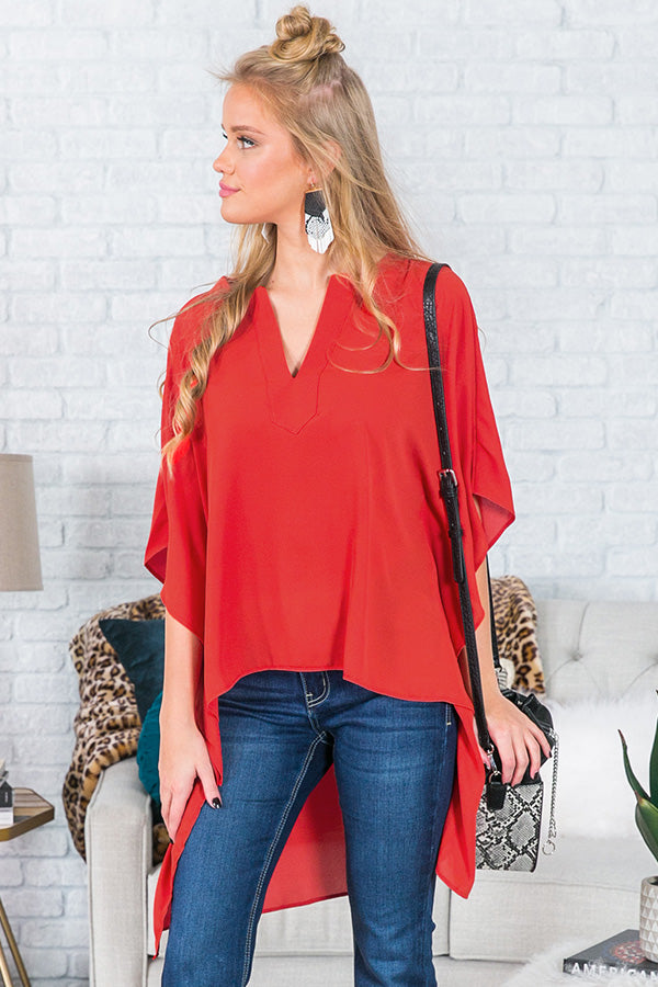 Cayman Islands Getaway Tunic In Tangerine