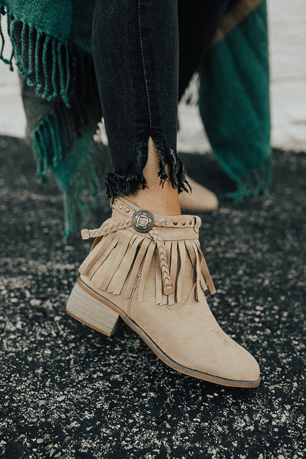 The Saylor Fringe Bootie