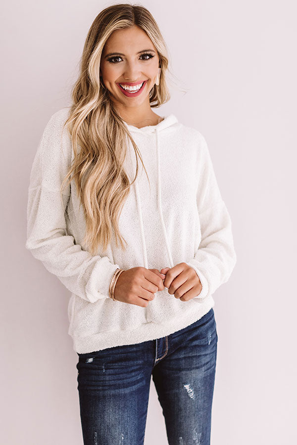 Slopes And S'mores Hoodie In Ivory