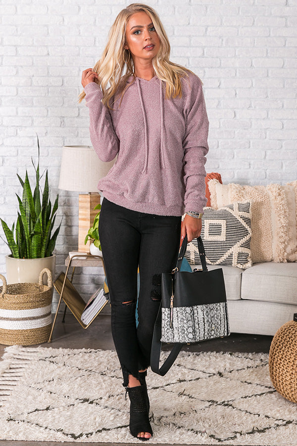 Slopes And S'mores Hoodie In Blush