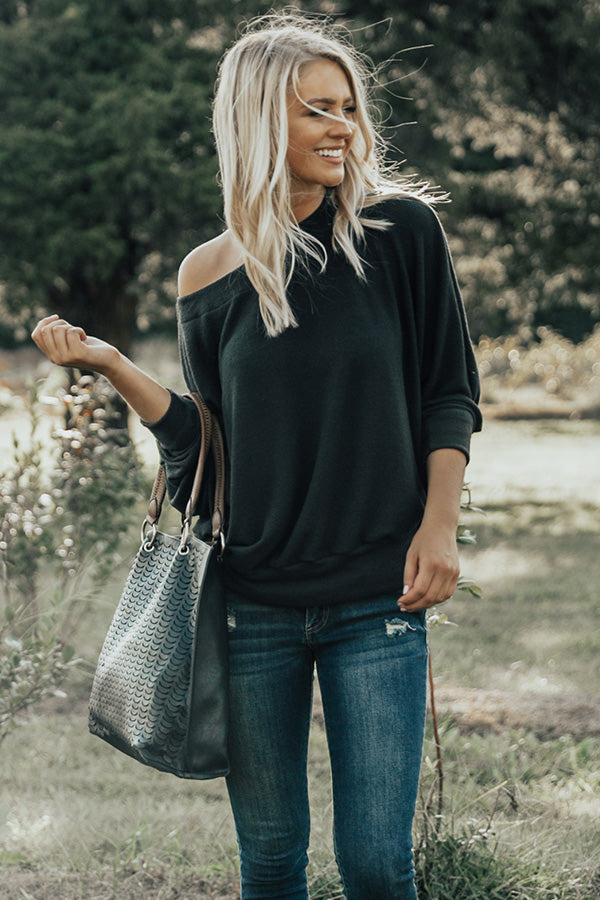 Apple Cider Chic Top in Black