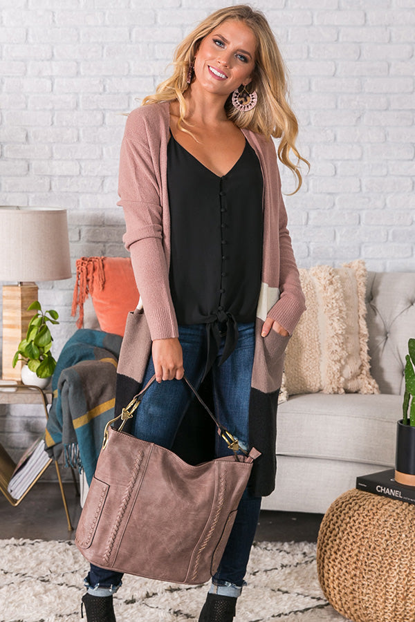 Cuddles Under The Stars Cardigan in Blush