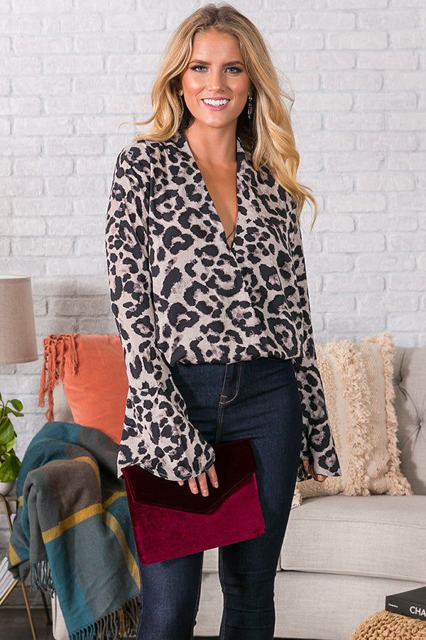 So Glam Leopard Top