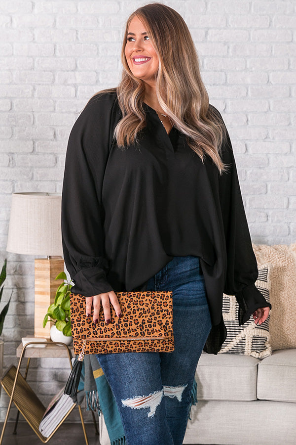 Livin' Luxe Shift Top in Black