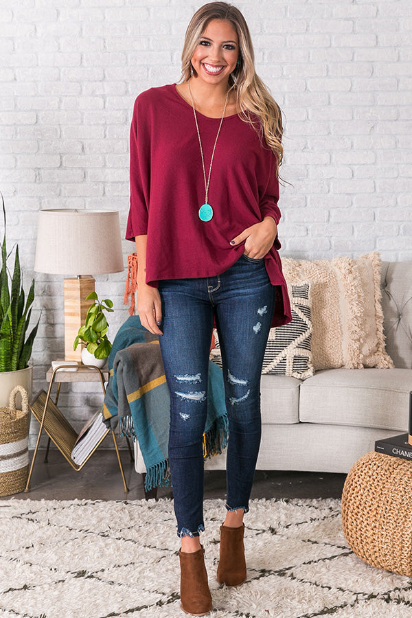 Keep It Cozy Shift Top