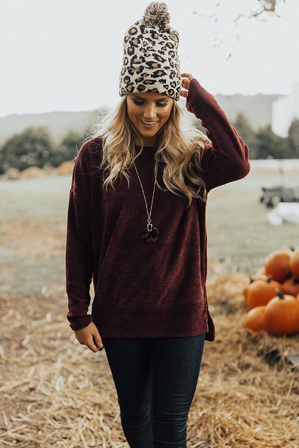 Luxe Comforts Shift Sweater in Purple
