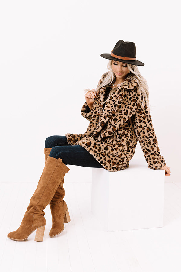 Influencer Life Plush Leopard Coat