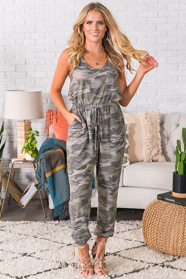 Catch Me If Ya Can Camo Jumpsuit