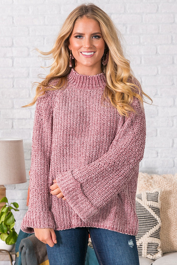 Snowflakes in Soho Chenille Sweater